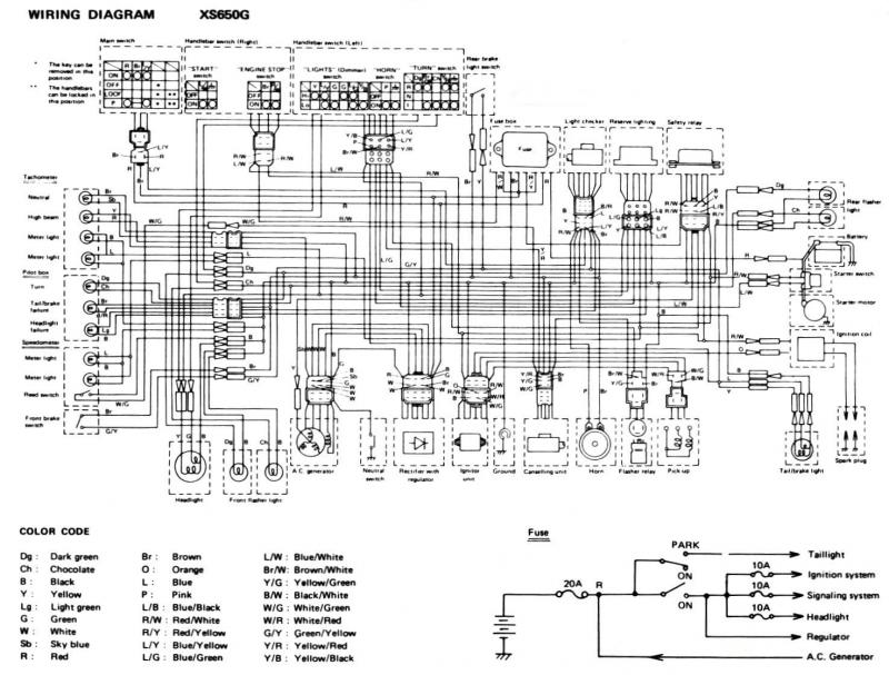 g m choppers wiring diagrams xs 650