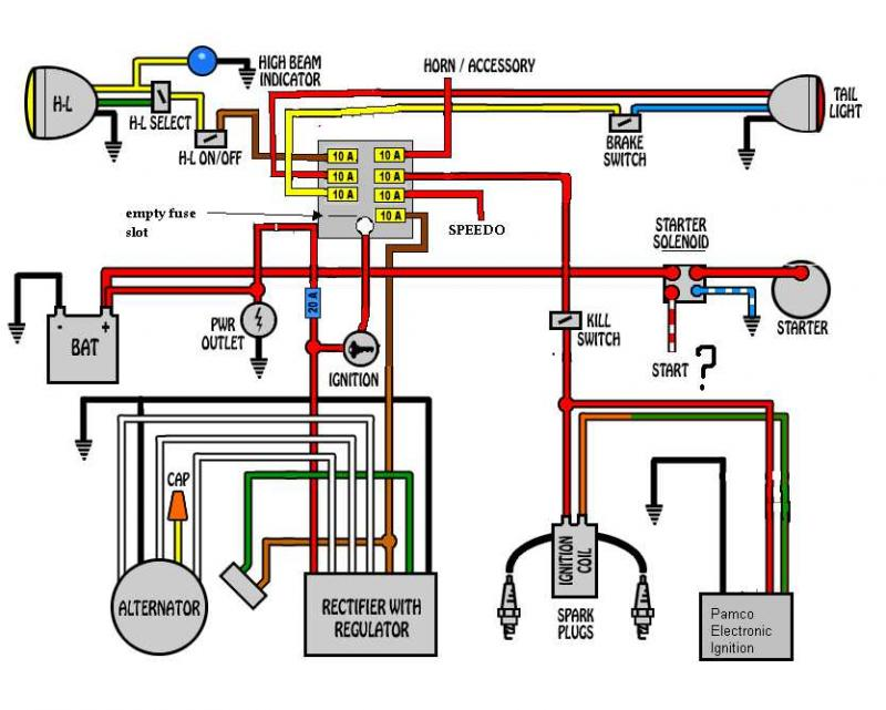wiring diagram for a yamaha xs650